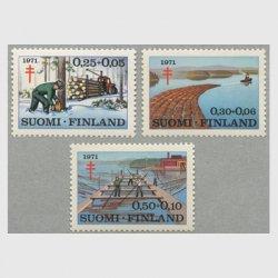 フィンランド 1971年複十字切手3種