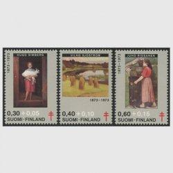 フィンランド 1973年複十字切手 絵画3種