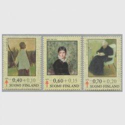 フィンランド 1975年複十字切手 絵画3種