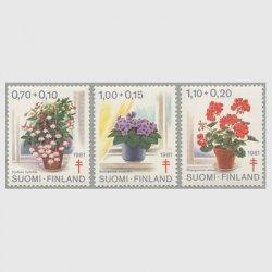 フィンランド 1981年複十字切手 花3種