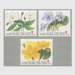 フィンランド 1983年複十字切手 花3種