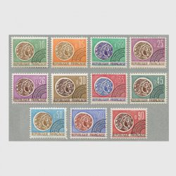 フランス 1964-71年プリキャンセル コイン「REPUBLIQUE PRANCAISE」表記11種