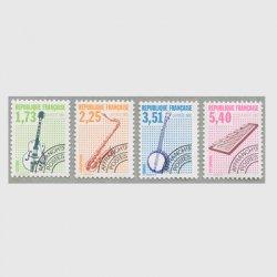 フランス 1992年プリキャンセル 楽器シリーズ4種(5次)