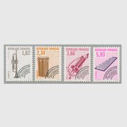 フランス 1993年プリキャンセル 楽器シリーズ4種(6次)