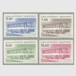 フィンランド 1981年小包切手4種