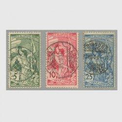 スイス 1900年UPU25年使用済み3種