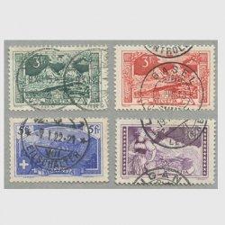 スイス 1914-1918年ミーテン山など使用済み4種
