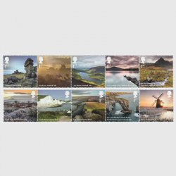 イギリス 2021年国立公園10種(5種連刷x2)