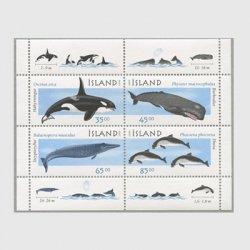 アイスランド 1999年海洋哺乳類 小型シート