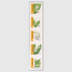 フィンランド 2006年スズラン コイル5種連刷