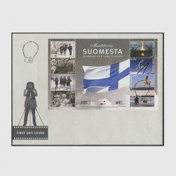 フィンランド 2007年独立90年 ミニチュアシート初日カバー