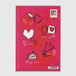 フィンランド 2008年Love切手 ミニチュアシート