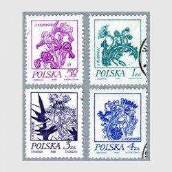 ポーランド 1974年アイリスなど4種使用済