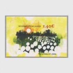 フィンランド 2007年花畑の落日