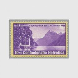 スイス 1938年ルツェルン湖とテルの礼拝堂