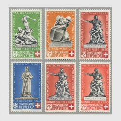 スイス 1940年 記念像6種