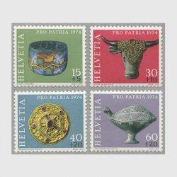 スイス 1974年ローマ時代のガラス杯など4種