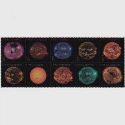 アメリカ 2021年太陽の科学10種連刷