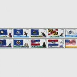アメリカ 2009年3次旗セルフ糊コイル10連