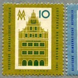 東ドイツ 1961年ライプチヒ歴史建造物2種