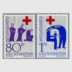 リヒテンシュタイン 1963年赤十字2種