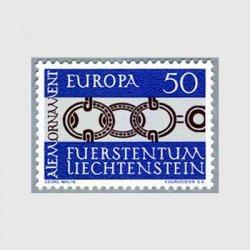 リヒテンシュタイン 1965年ヨーロッパ切手ベルト
