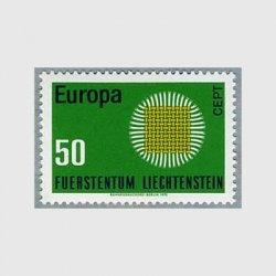 リヒテンシュタイン 1970年ヨーロッパ切手組み糸