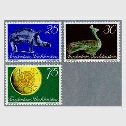 リヒテンシュタイン 1971年ブロンズの豚など3種
