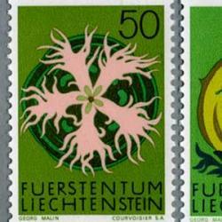 リヒテンシュタイン 1971年シクラメンなど4種