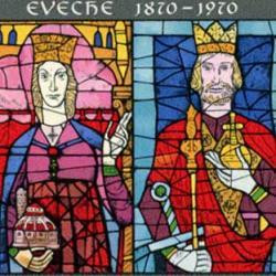 ルクセンブルグ 1970年大聖堂のステンドグラス