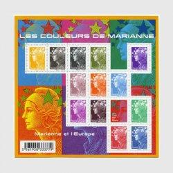 フランス 2009年普通切手マリアンヌ・ミニチュアシート