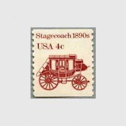 アメリカ 1982年輸送機関 額面「c」付き「駅馬車」