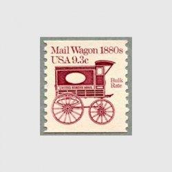 アメリカ 1981年輸送機関 額面「c」付き「郵便馬車」