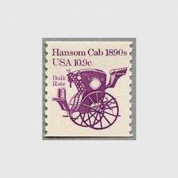 アメリカ 1982年輸送機関 額面「c」付き「馬車」