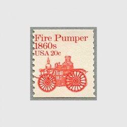 アメリカ 1981年輸送機関 額面「c」付き「消防自動車」