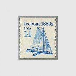 アメリカ 1985年輸送機関 額面「c」なし「アイスボート」