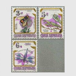 チェコ共和国 1995年昆虫3種