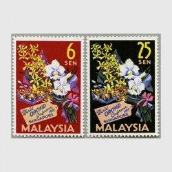 マレーシア 1963年世界蘭会議2種