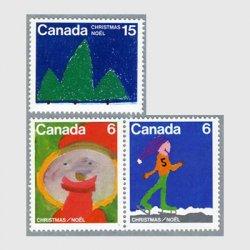 カナダ 1975年クリスマス児童画3種