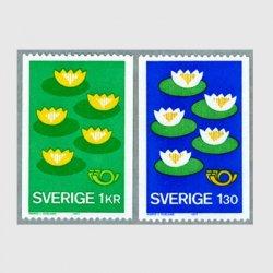 スウェーデン 1977年北欧切手'77 2種