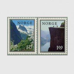 ノルウェー 1976年フィヨルドの風景2種