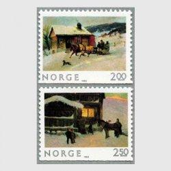 ノルウェー 1983年クリスマスの風景2種