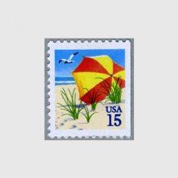 アメリカ 1990年切手帳単片ビーチパラソル