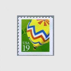 アメリカ 1991年切手帳単片気球
