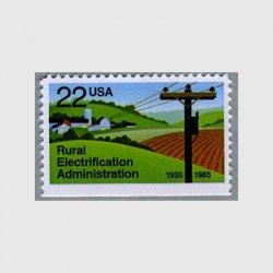 アメリカ 1985年農村電化局50年