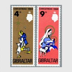 ジブラルタル 1968年クリスマス2種