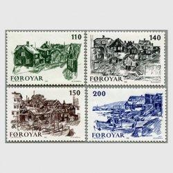 フェロー諸島 1981年Torshavnの風景4種
