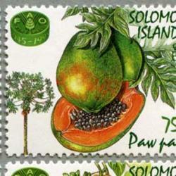 ソロモン諸島 1995年フルーツ4種