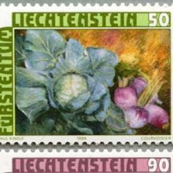 リヒテンシュタイン 1986年赤キャベツなど3種