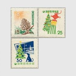 韓国 1957年クリスマス3種